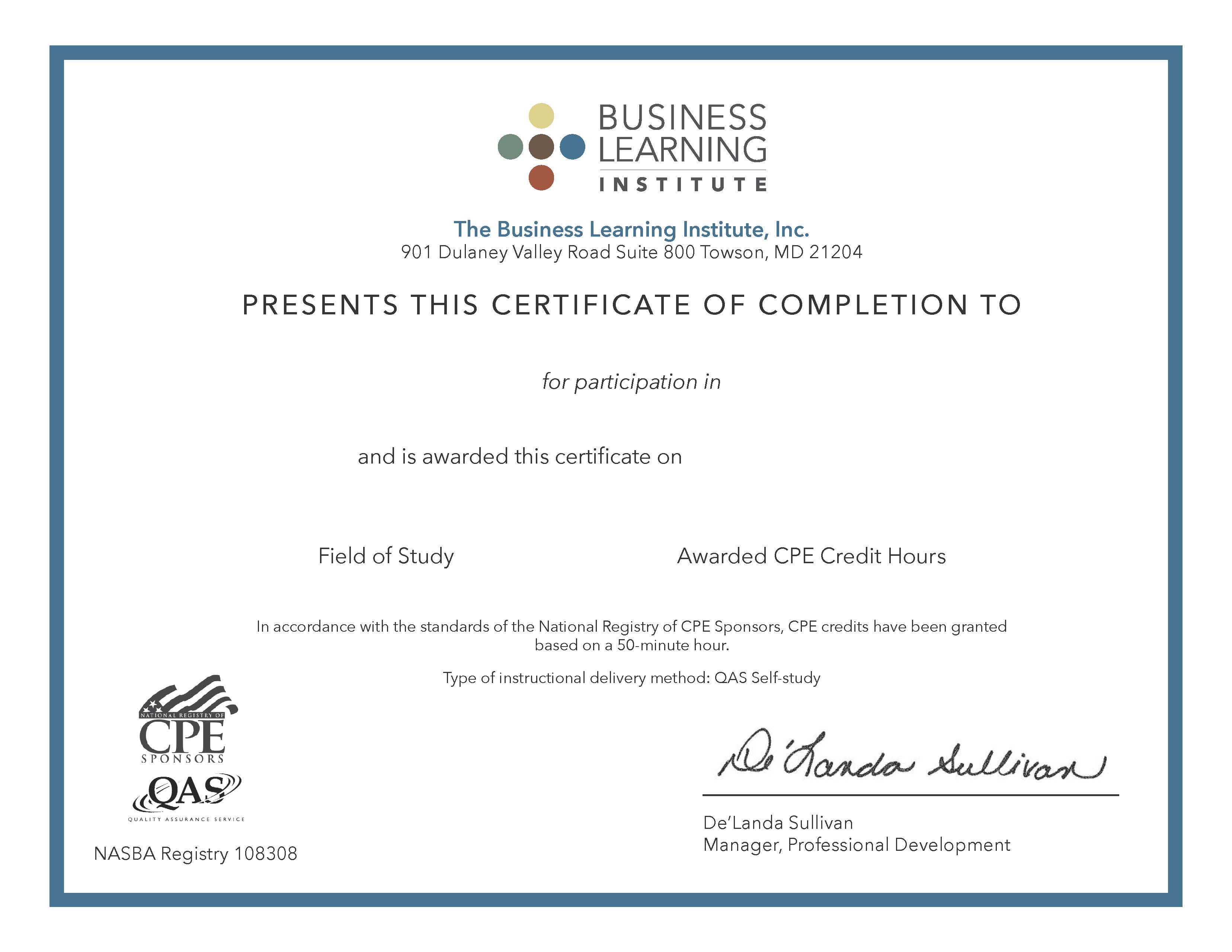 Business Learning Institute Mbaexpress Project Management